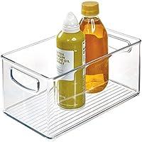"""InterDesign Home Kitchen Organizer Bin for Pantry, Refrigerator, Freezer & Storage Cabinet-10"""" x 6"""" x 5"""", Clear"""