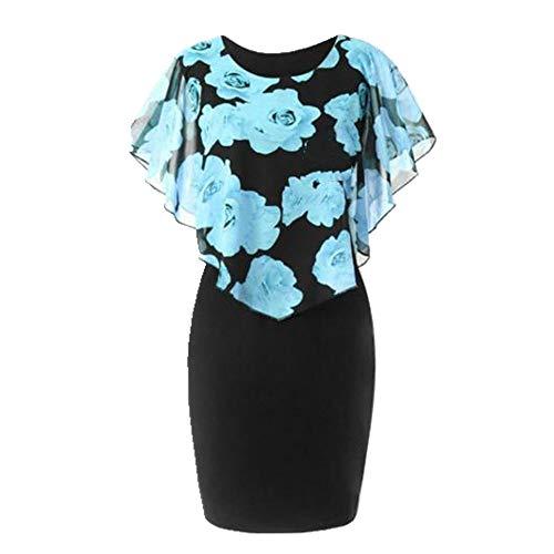 N\P Vestido de mujer de talla grande de oficina de señora hasta la rodilla
