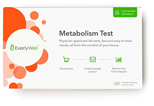 Everlywell Metabolism Test at Home Evaluate 3 Key Hormones - Discreet, Accurate Blood and Saliva Analysis - Results Within Days - CLIA-Certified Adult Test - Unavailable in NY, NJ, RI