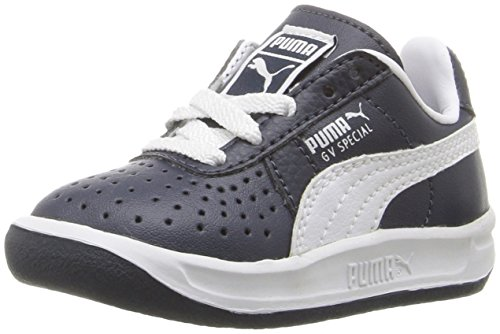 Puma Puma GV Special Infants, Sneaker Bambini Black/Black/Metallic Gold, Blu (New Navy/White), 19 EU M Bambino
