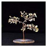 Árbol del dinero Árbol de cristal natural Amatista Rose Rose Aquamarine Lucky Tree Decoration Agate Rebandes Piedra Gema Árbol Mineral □ Ornamentos Oficina Deco Árbol bonsai ( Color : Citrine )