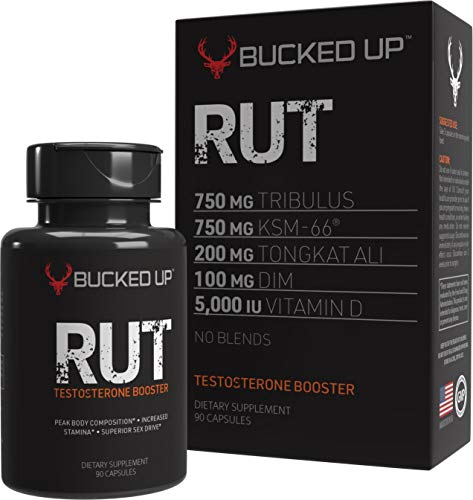 RUT - Testo Booster - Best All-Natural Test Formula for Men - Energy  Endurance  Strength  and Stamina Booster - Muscle Composition Aid - Male Supplements (90 Capsules/Pills)