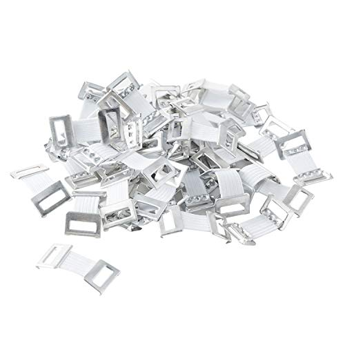 ORIENTOOLS Elastic Bandage Clips 50-Pack Stretch Metal Clasps for Various Types Bandages, Replaceable Wrap Fastener Clips, Latex-Free, White