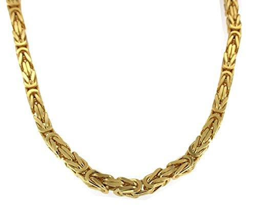 Königskette Gold Doublé 8 mm 45 cm Halskette Goldkette Herren-Kette Damen Geschenk Schmuck ab Fabrik Italien tendenze BZGYs8-45v