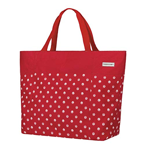 anndora XXL Shopper rot Punkte - Strandtasche 40 Liter Schultertasche Einkaufstasche