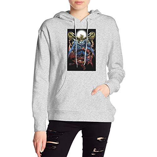 Vacant Lovely Women'Sdesign Duel Monsters Card of God with Hood Bag Classic Hoodie Gray Xx-Small