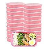 Contenedores de preparación de comidas con tapas, caja de almuerzo premium, sin BPA, reutilizables, lavavajillas, microondas, congelador, caja fuerte, paquete de 10 (P-20 pack)