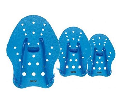 SEAC Hand Paddle, Palette per Allenamento al Nuoto in Piscina e in Mare Unisex Adulto, Blu, L