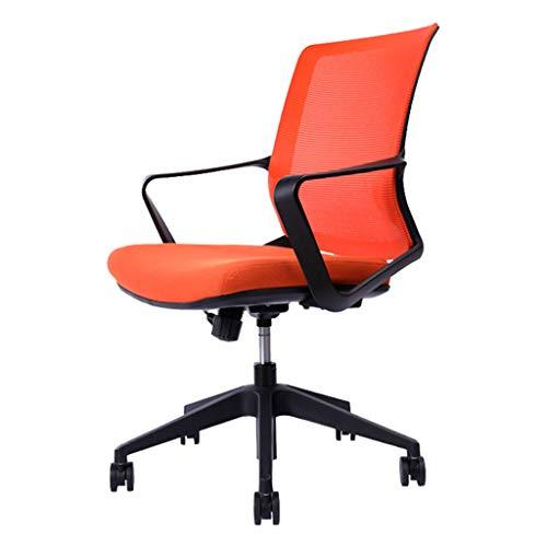 Schreibtischstühle Haushalts-Aufzugsstuhl Drehsessel Orange Bürostuhl Moderner Minimalistischer Bürostuhl Personalstühle Für Mittagspause Ergonomischer Stuhl Schlafzimmer-Computerspielstuhl Tragendes