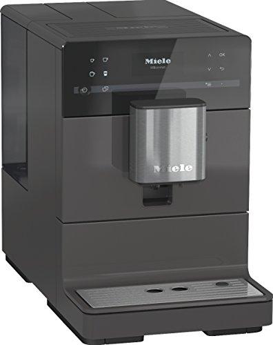 Miele CM 5300 Kaffeevollautomat (OneTouch- und OneTouch for Two-Zubereitung, automatische Spülprogramme, komfortable Reinigungsprogramme, entnehmbare Brüheinheit, Edelstahl-Kegelmahlwerk) grau
