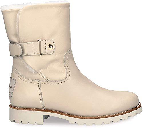 Panama Jack Damen Winterstiefel Felia Igloo,Frauen Winter-Boots,Fellboots,Lammfellstiefel,Fellstiefel,gefüttert,warm,Beig,EU 36