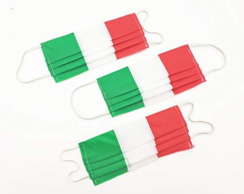 TNT riutilizzabili ad uso individuale, generico, lavabile, con elastici - 100% Made in Italy - 5pz Tricolore
