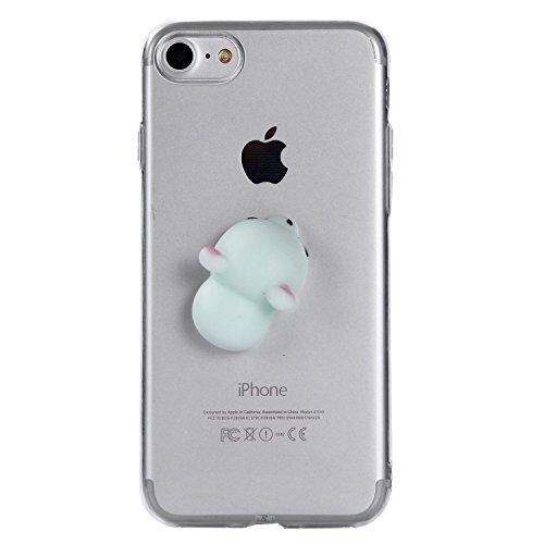 """SevenPanda für iPhone XR Hülle, iPhone XR 3D Squishy TPU Hülle mit Weichem Silikon Niedlichen Tier Squeeze Stress Reliever Telefonabdeckung für iPhone XR 6.1"""" - Hund"""