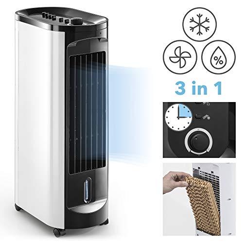 TROTEC Aircooler/ - Climatizador portátil PAE 10 3 en 1 - Dispositivo: Aire enfriador, ventilador, humidificador, y ambientador (3 niveles de ventiladores, temporizador)