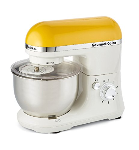 Ariete Gourmet Color 1000W 4L Color blanco, Amarillo - Robot de cocina (4 L, Blanco, Amarillo, Giratorio, Locked, Acero inoxidable, Acero inoxidable)