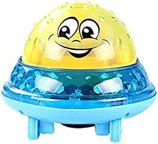 JVSISM Baby Bath Toys Electric Inductive Water Ball Bathroom Bathtub Swimming Toys for Infant Children(Yellow+Blue)