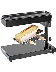 Livoo DOC159 Raclette-apparaat voor kwartelschuurmachine, thermostaat draaibaar, kantelbaar en in hoogte verstelbaar, 600 W, zwart