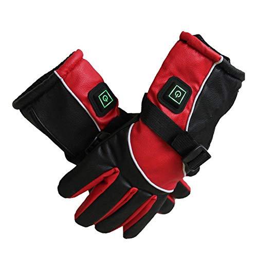Elektrische verwarmde handschoenen voor dames en heren, 3000 mAh oplaadbare lithium-ion-batterij, waterdichte handschoenen voor outdoor-sport, snowboard, skiën