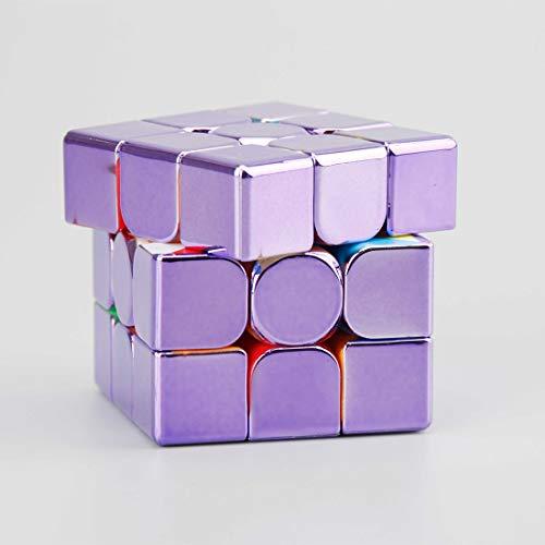 deguojilvxingshe MoYu Meilong3C Plated Reflective Magic Cube ,MoYu Cube Plated Speed Magic Cube Meilong Cube, 3D Puzzles Jigsaw Toys Brain Teasers for Children