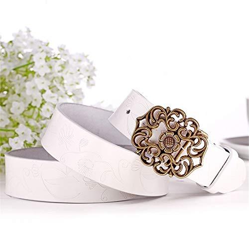 Cinturón De Mujer Ajustable Botón de la flor de la vendimia Cinturón...