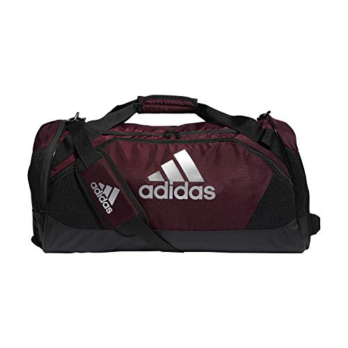adidas Team Issue II Medium Duffel Bag, Team Maroon, ONE SIZE