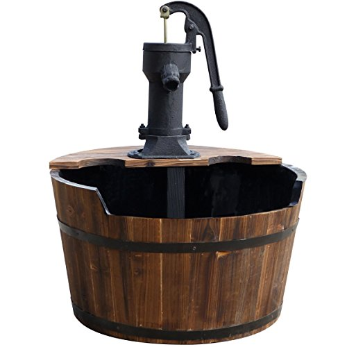 Ubbink Wasserspiel Newcastle Springbrunnen Set Holzfass Gartenbrunnen Brunnen von Gartenwelt Riegelsberger