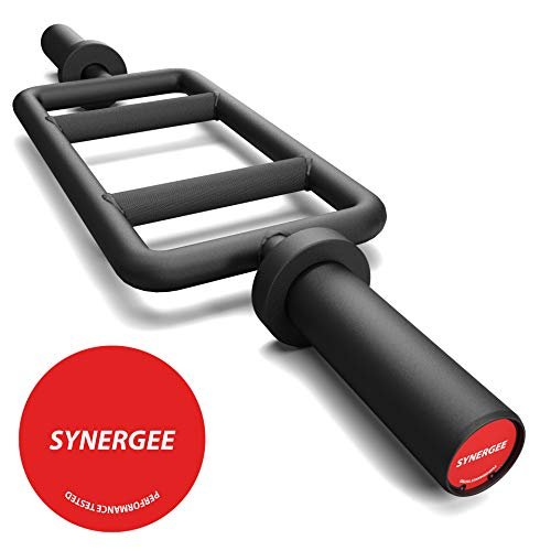 Synergee Black Tricep Bar 25 lbs for Maximum Gains & Comfort for Extensions, Curls, Pressing Workouts – Upper Body Exercise Gear