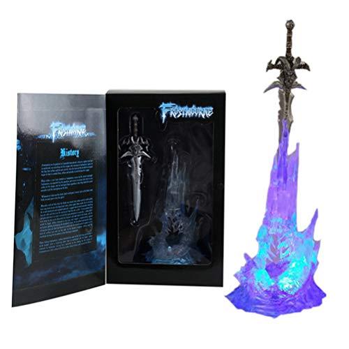 EASTVAPS Wow Arthas Menethil's Frostmourne Espada con iluminación Anime 28 cm PVC Figura de acción de Juguete