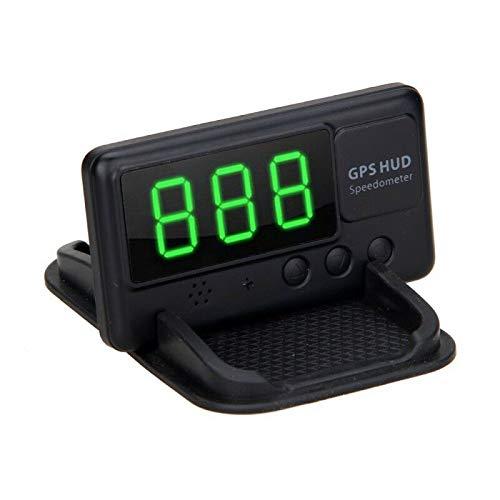 Riloer Coche Hud Display, Actualizar el Proyector de Parabrisas con GPS Head Up Display con Velocidad, Reloj Digital, Advertencia de Exceso de Velocidad, Medición de Kilometraje, Dirección