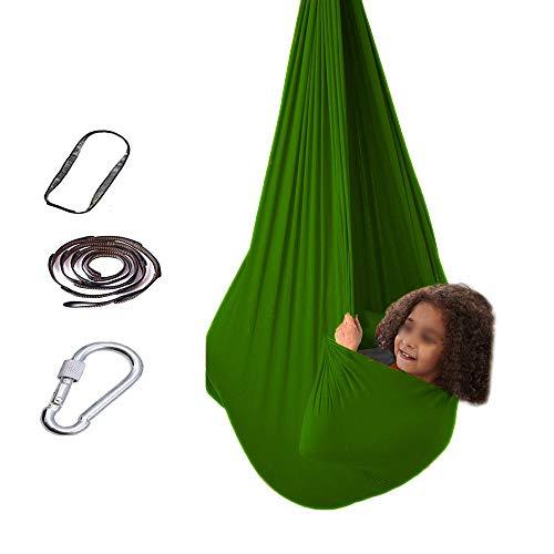 WCX Sensory swing indoor Indoor Swing Hammock Hanging Chair Bed Therapy Sensory Seat For Kid Children Garden Outdoor Camping Calming Effect On Children Needs