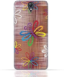 Lenovo Vibe S1 Lite TPU Silicone Case With Rainbow Butterfly Pattern Design.