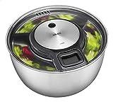 Gefu - Centrifuga per insalata Speed Wing 28160, per un'insalata perfettamente asciutta, ciotola in acciaio inossidabile