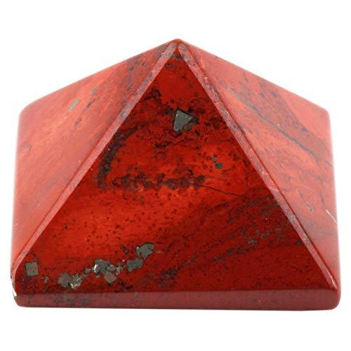 ZTTT Rote Jasper Pyramid Figur Dekoration Edelsteinstein (Color : 5 Pc)