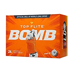 Official Ball of World Long Drive that allows golfers to play full blast with explosively long and straight shots Firmer Ionomer cover minimizes spin while enhancing durability Larger core construction optimizes compression for elevated ball speeds a...