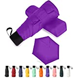 GAOYAING Compact Travel Umbrella Sun&Rain Lightweight Totes Small and Compact Suit for Pocket Purple