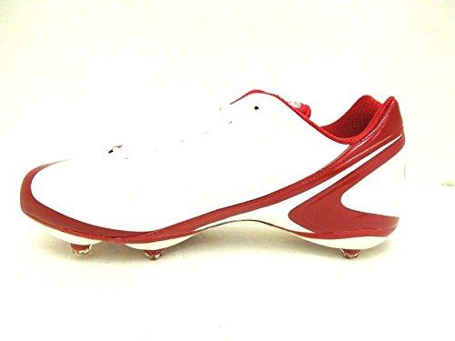 Reebok Herren Fußballschuh, NFL Burner Speed Low Football, Weiß/Rot, 14 M