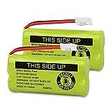 QTKJ BT184342 BT18433 BT28433 BT284342 bt183348 BT-1018 Cordless Phone Battery for AT&T CL80109 TL90078 Vtech CS6209 BT-8300 CS6219 CS6229 DS6301 DS6151 DS6101 BT-1022 Uniden DCX400 Handset (2Pack)