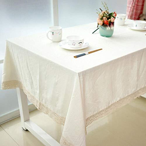 Sinzong tafelkleden keuken wit tafelkleed katoen linnen tafelkleed rechthoekige tafelkleden eettafel afdekking mantel Mesa