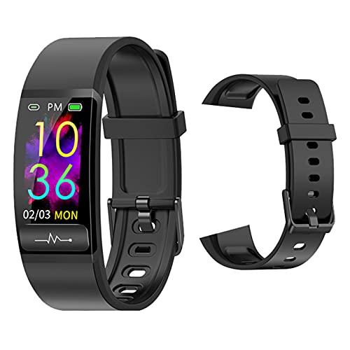 LWP PPG ECG Pulsera Inteligente M8 Medición De La Presión Arterial con Monitor De Ritmo Cardíaco Smart Watch H66 Actividad Fitness Tracker Pulsera para Android iOS,N