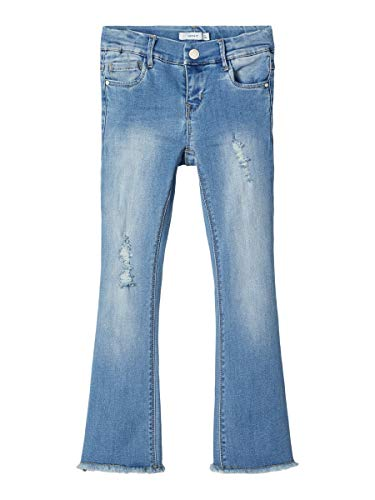 NAME IT Girl Bootcut-Jeans 7/8 128Light Blue Denim