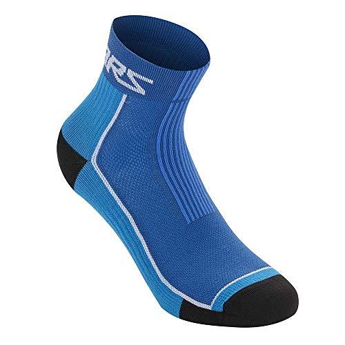 AS 1701120 Apline Stars Sommer Socken 9 MTB Herren Mountainbike Downhill Trail, Schwarz/Aqua, L (UK 10-12 / EU 44-47)