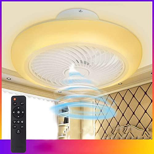 Ventilador De Techo LED De 36W Con Iluminación Y Control Remoto Ventilador Regulable Luz De Techo Ventilador Blanco Moderno Lámpara De Techo Ventilador Silencioso Φ45CM