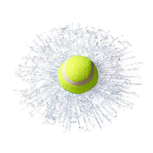 Nrpfell 3D Tennis Auto Aufkleber Glas Scherben Kreative Auto Fenster Aufkleber, Leicht zu Zerlegen, Nicht Verblasst