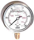 Manometro della glicerina JRA-Longlife 0-100 bar Connessione inferiore attacco G1/4' Dia.63