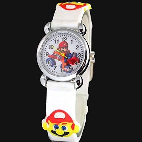 FENGHU mario alarma 3d de dibujos animados Super Mario reloj mejor regalo de cumpleaños para niños niñas niños estudiantes
