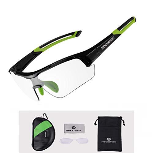 ROCKBROS Gafas de Sol Fotocromáticas Lentes Transparentes con Protección UV400 Ultraligero para Ciclismo Running Deportes al Aire Libre para Hombre y Mujer