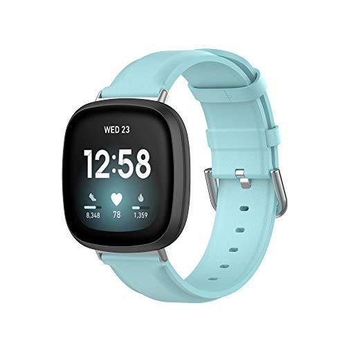MAKACTUA Compatible per Fitbit Versa 3 Cinturino/Fitbit Sense Cinturini, Cinturini Fitbit Sense/Fitbit Versa 3 Cinturino Braccialetto di Ricambio Polso Pelle