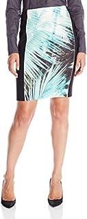 DKNYC Women's Printed Scuba Pencil Skirt