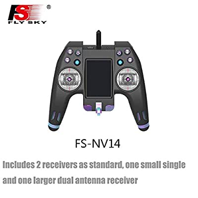 Flysky Nirvana FS-NV14 RC Transmitter Remote Controller 2.4G 14CH Touch Screen with FS X8B iA8X Receiver USB Simulator Bluetooth for RC Cross Racing FPV Drone Quadcopter