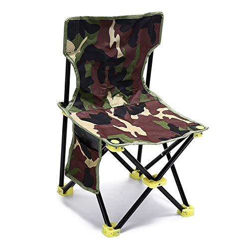qidongshimaohuacegongqiyouxiangongsi angelausrüstung Faltbare Campingstühle for den Strand Picknick-Bänke im Freien Tarnung Angeln Stuhl zum Ausruhen